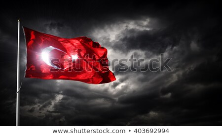 Turco bandeira istambul ver céu assinar Foto stock © boggy