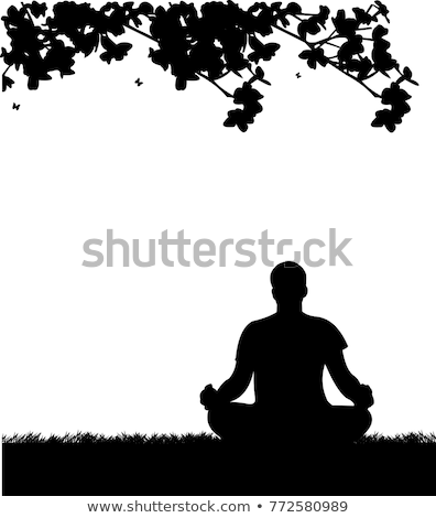 men doing yoga under the tree Stock photo © Gafter_Shuster