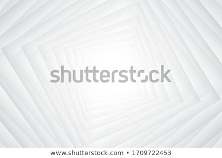 Streszczenie falisty placu biały 3D 3d Zdjęcia stock © djmilic