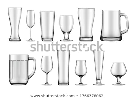 Cerveja quartilho vidro vazio isolado Foto stock © albund