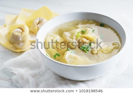 スープ 中国語 ディナー レストラン アジア 白 ストックフォト © Freelancer
