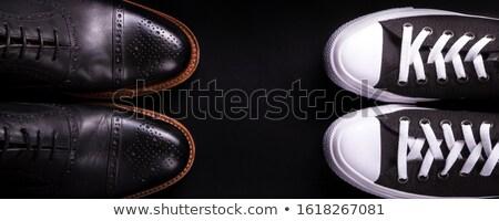 Banner negro oxford zapatos vista posterior Foto stock © Illia