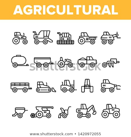 Agronomy Cultivator Trailer Vector Thin Line Icon Stock photo © pikepicture