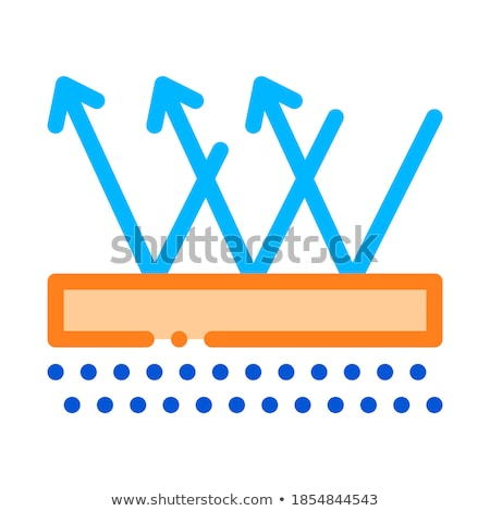 Waterproof Material Floor Vector Thin Line Icon Stock photo © pikepicture