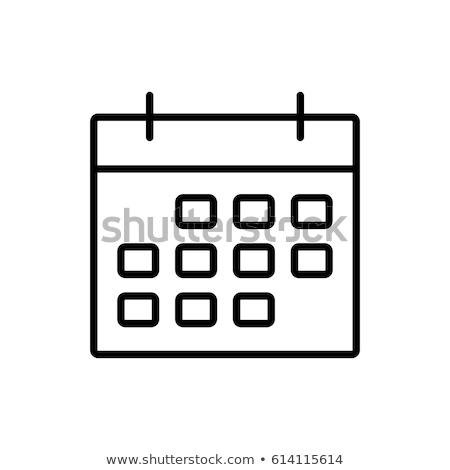 Calendario mes página vector signo delgado Foto stock © pikepicture
