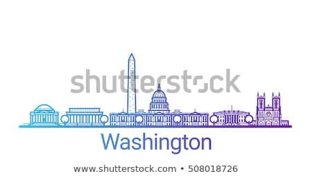 Contorno Washington Monument blu colore Washington DC città Foto d'archivio © ShustrikS