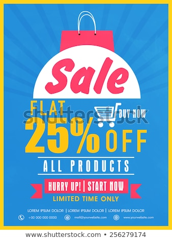 Sale on All Products, Discount, Promotional Poster Stock photo © robuart