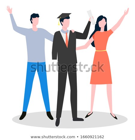 Man Graduate Without Hand Medical Service Vector Stock photo © robuart