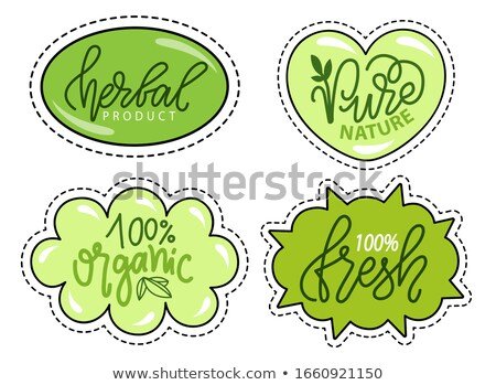 Herbal and Organic Products, Patches Collection Stock photo © robuart