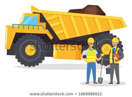 People Work on Quarry, Lorry with Cargo, Mining Stock photo © robuart