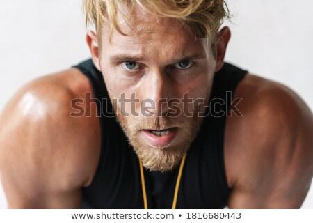 фото спортивный кавказский спортсмен глядя Сток-фото © deandrobot