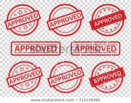 Aprovado registro licença documento papel mão Foto stock © AndreyPopov