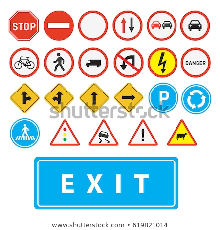 Bicycle lane traffic sign Stock photo © stevanovicigor
