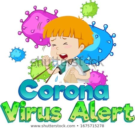 Carattere design coronavirus avvisare malati kid Foto d'archivio © bluering