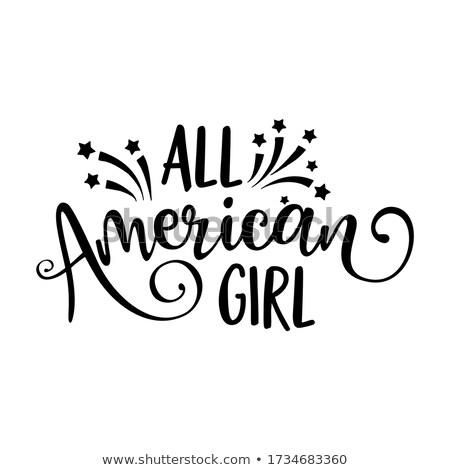 All american girl - Happy Independence Day July 4th  Stock photo © Zsuskaa