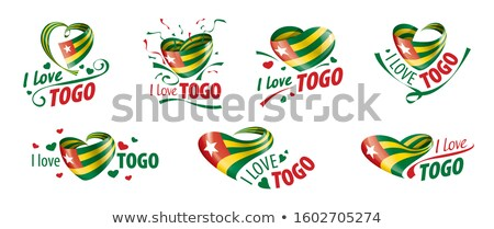 The national flag of the Togo and the inscription I love Togo. Vector illustration Stock photo © butenkow