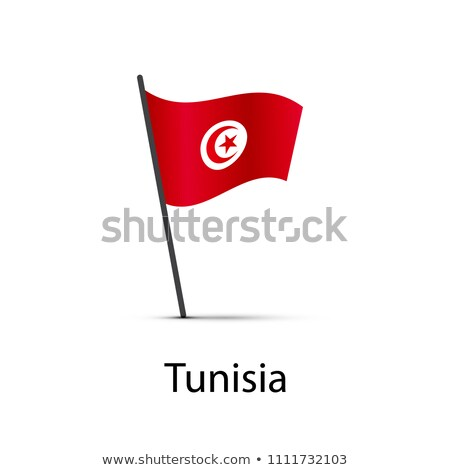 Tunísia bandeira pólo elemento branco Foto stock © evgeny89
