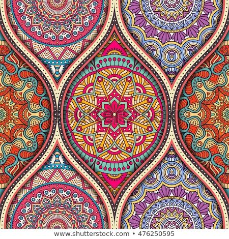 Mandala etnik motifler vektör temel Stok fotoğraf © sanyal