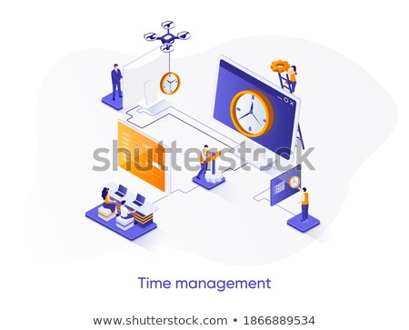 Deadline concept - modern colorful isometric web banner Stock photo © Decorwithme
