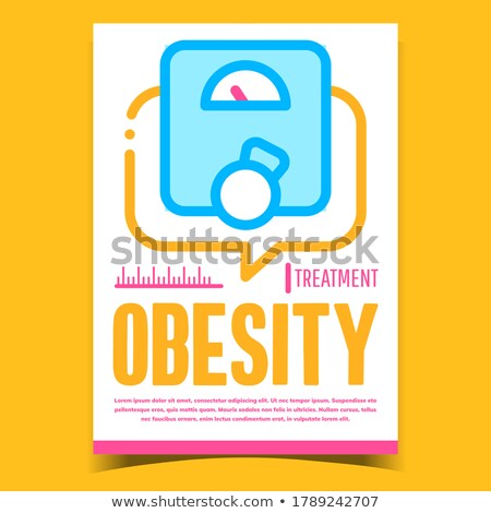 Obesity Treatment Creative Advertise Banner Vector Stock photo © pikepicture
