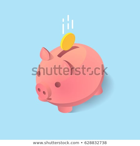 Piggy Bank Pig Money isometric icon vector illustration Stock photo © pikepicture