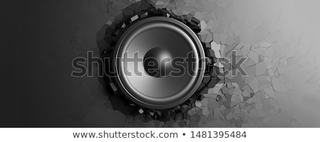 Acústico altavoz aislado blanco vector música Foto stock © RAStudio
