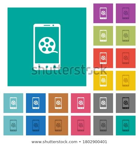 mozi · film · vektor · ikon · gyűjtemény · színek · nő - stock fotó © stoyanh
