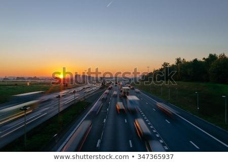 Бельгия шоссе знак зеленый облаке улице знак Сток-фото © kbuntu