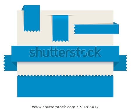 Vers Blauw lint papier bladwijzer nieuwe Stockfoto © orson