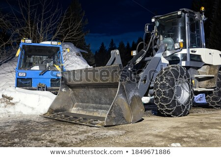Tractor ready to work, winter snowplow Stock photo © blasbike