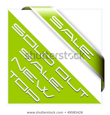 Green corner ribbon for bestseller  Stock photo © orson