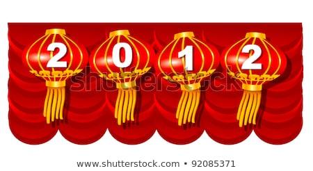 Kırmızı perde 2012 sayılar yeni yıl Stok fotoğraf © anyunoff