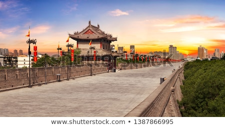 China · famoso · antigua · ciudad · pared · paisaje - foto stock © bbbar