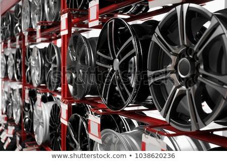plata · coche · blanco · frente · luz · rueda - foto stock © imaster