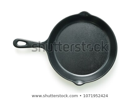 Cast Iron Skillet Isolated Stock photo © dehooks