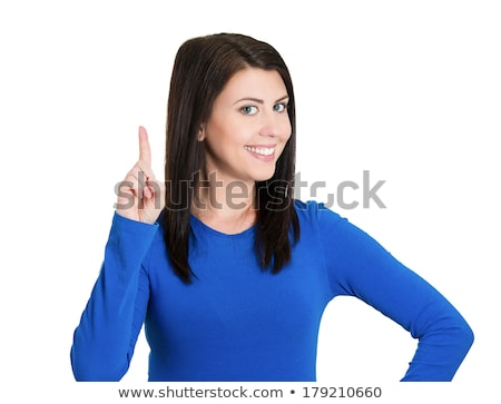Brilliant happy smile from beautiful young woman Stock photo © darrinhenry