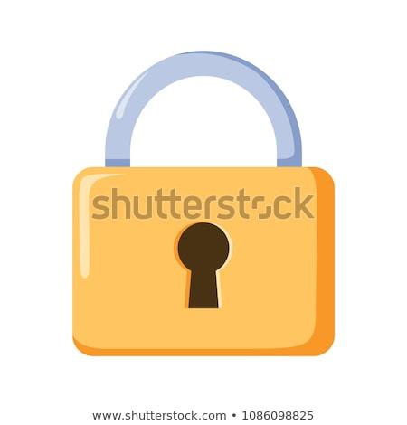 mécanique · lock · résumé · blanche · métal · boîte - photo stock © -Baks-