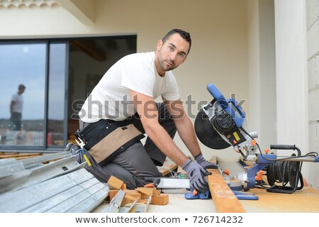 Man using a circular saw Stock photo © photography33