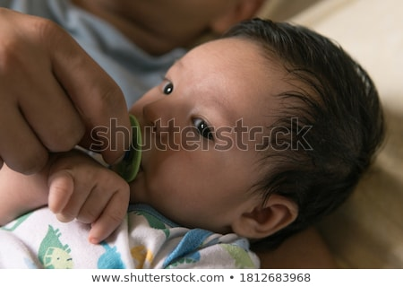 bébé · Homme · blackbird · oeil · nature - photo stock © get4net