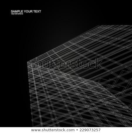 Matriz wireframe negócio internet telefone arte Foto stock © Archipoch