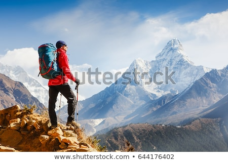 Active tourist in mountains Stock photo © photocreo