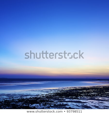 Sunrise over the beach at low tide, Thailand. Long exposure shot Stock photo © moses