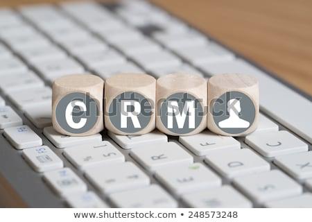 siglas · crm · cliente · relación · comercialización · escrito - foto stock © bbbar