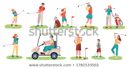 jogador · de · golfe · silhueta · grama · esportes · clube · alvo - foto stock © experimental