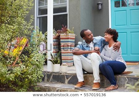 муж руки вокруг жена женщину цветок Сток-фото © photography33