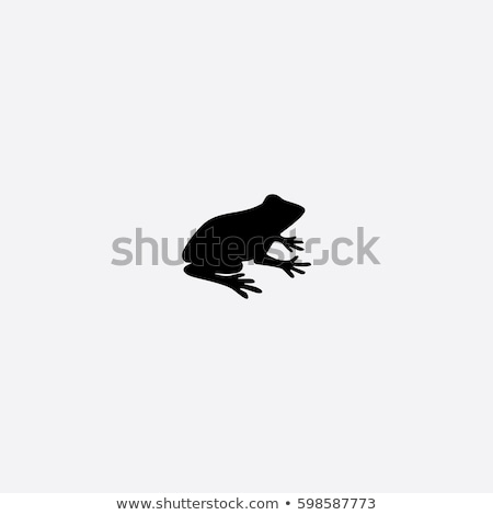 grenouille · silhouette · ombre · séance · vert - photo stock © Forgiss