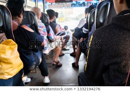 Para jazda konna autobus wraz kobieta drogowego Zdjęcia stock © photography33