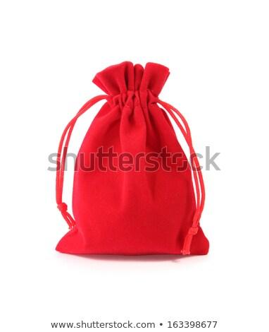 Piros bársony izolált fehér üzlet pénzügy Stock fotó © pinkblue