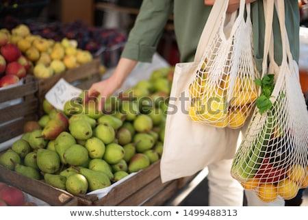環境にやさしい ショッピング 緑 食料品 袋 フル ストックフォト © stevemc