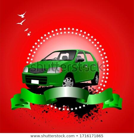 silhueta · carros · vetor · carro · estrada · acelerar - foto stock © leonido